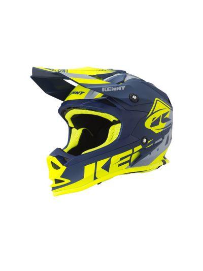 KENNY RACING TRACK KID otroška motoristična cross čelada - navy/neon rumena