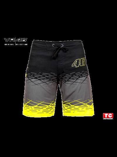 Moške kopalne hlače - Valentino Rossi VR46 - črne