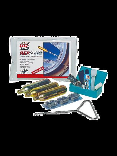 REMA TIP-TOP Rep & Air set za popravilo moto pnevmatik (brez zračnic)