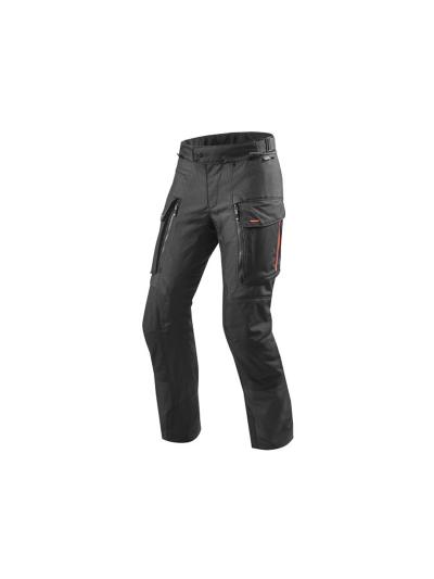 SAND 3 REV'IT - Tekstilne motoristične hlače - podaljšane - črne