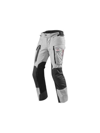 SAND 3 REV'IT - Tekstilne motoristične hlače - podaljšane - srebrne/atracit