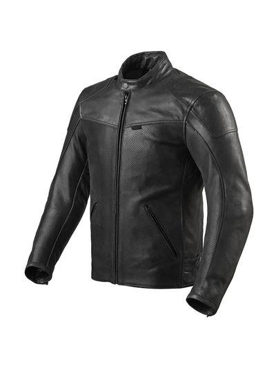 REV'IT SHERWOOD AIR usnjena motoristična jakna - črna