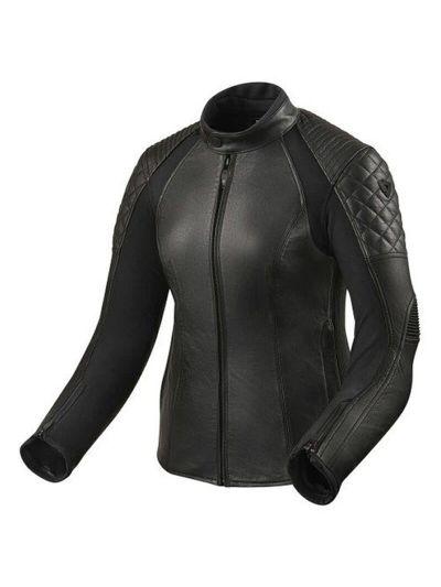 Ženska usnjena motoristična jakna REV'IT LUNA Ladies - črna
