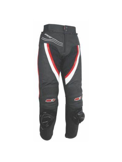 ATROX moške motoristične hlače črne / rdeče