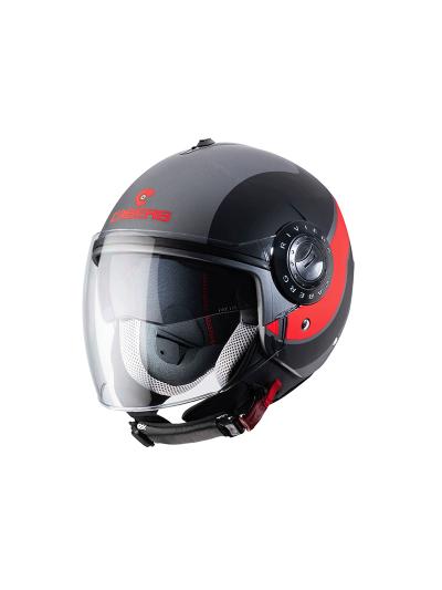 CABERG RIVIERA V3 SWAY - Motoristična odprta čelada - gunmetal / črna / fluo oranžna