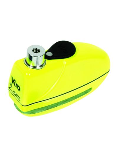 Alarmna disk ključavnica VIRO ECHO 5,5 mm - rumena