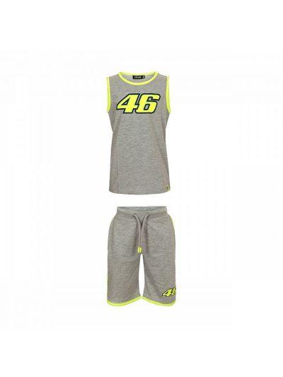 Otroški komplet majica in hlače VR46 - siv