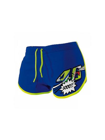 Ženske kratke hlače VR46 Pop Art Gooo!! - modre