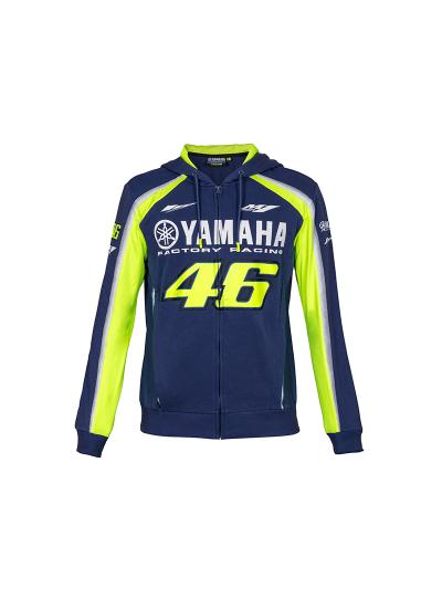 Jopa s kapuco Yamaha VR46 - modra/fluo