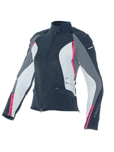 Ženska tekstilna motoristična jakna Dainese ARYA Lady - črna / siva / fuksija