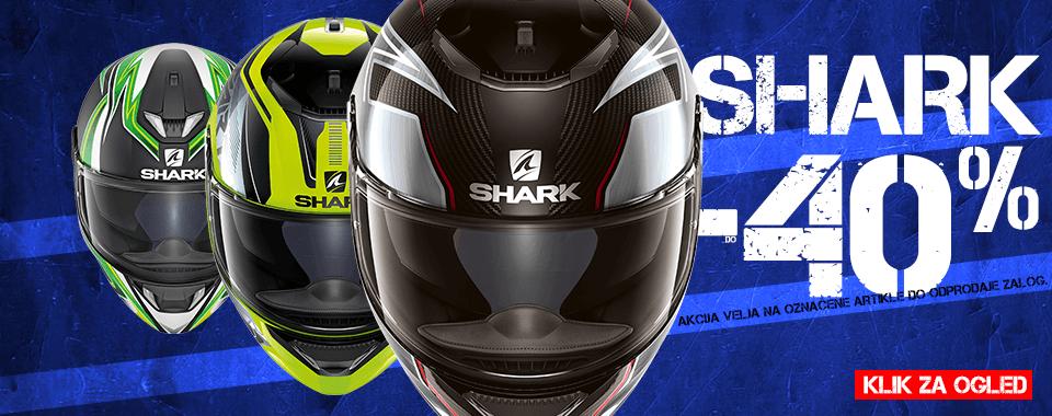 akcija motorističnih čelad Shark