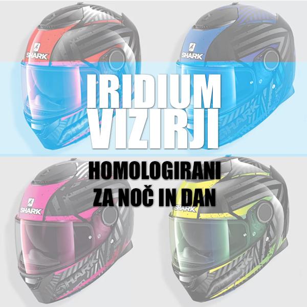 Novi homologirani vizirji SHARK Iridium - za dan in noč