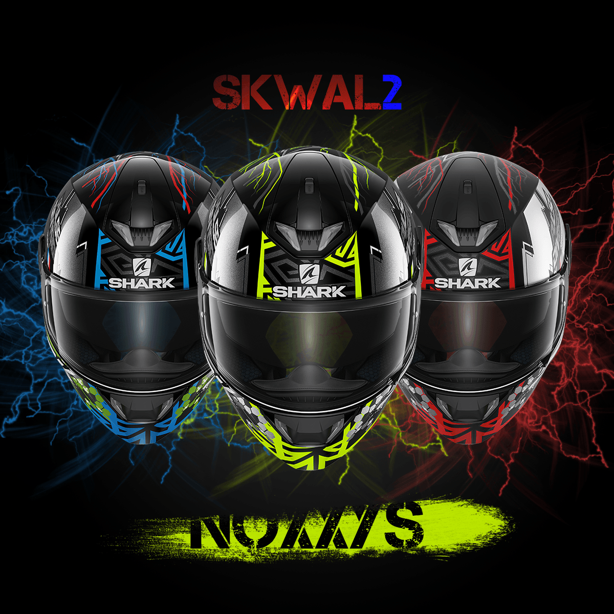 Motoristične čelade Shark SKWAL 2 Noxxys