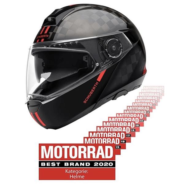 Schuberth motoristične čelade izbrane za najboljšo znamko 2020