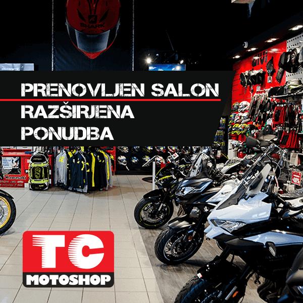 Prenovljen salon in razširjena ponudba TC Motoshop