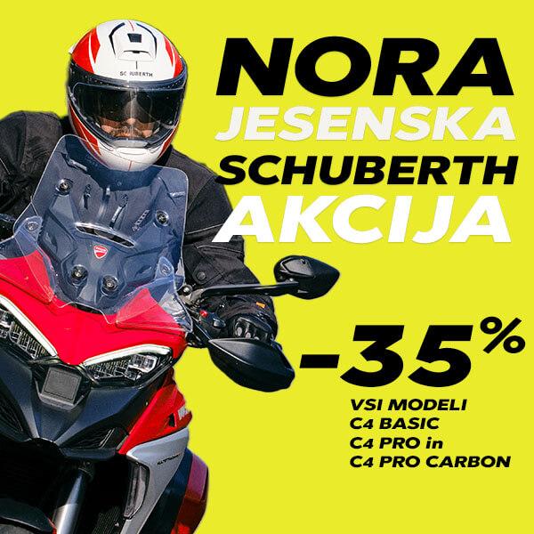 Nora jesenska akcija Schuberth C4 Basic, C4 Pro in C4 Pro Carbon