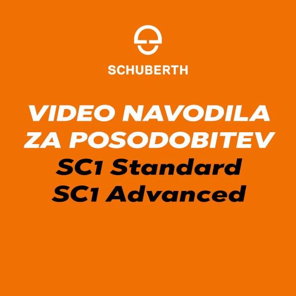 Kako posodobite Schuberth komunikacijo SC1 Standard in SC1 Advanced